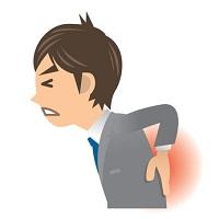 ビジネスマン A 病気 腰痛