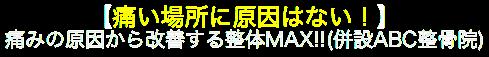 大阪府堺市の口コミ・評判の腰痛治療院  整体MAX!!(併設ABC整骨院)